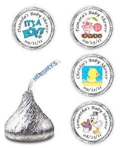 108 BABY SHOWER HERSHEY KISSES LABELS FAVORS PERSONALIZED BOY GIRL