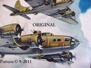 Memphis Belle Cross Stitch Pattern WWII MIlitary Aircraft TBB