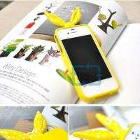 LOVELY BOW&HEART POLKA DOT RABBIT TPU STAND Back Case Cover For iPhone