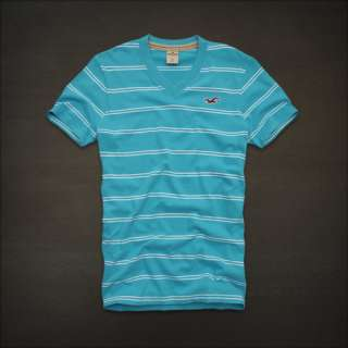 NWT HOLLISTER Abercrombie Mens Short Sleeve V Neck T Shirt Tee S, XL
