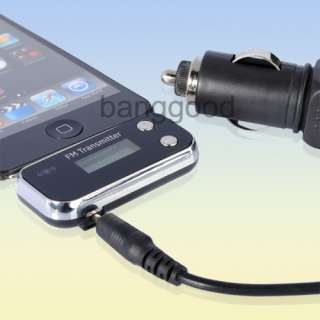 FM Radio Transmitter Remote Car Charger for iPhone 4S 4G 3GS 3G iPod