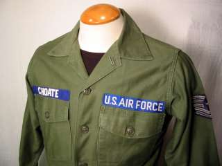 Vtg VIETNAM ERA U.S. AIRFORCE Cotton Sateen Jacket Sz 15 1/2 x 31
