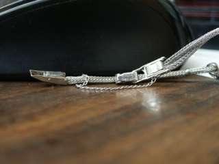Vintage Ladies Wittnauer 14k White Gold Diamond Watch