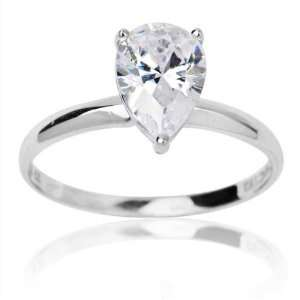 and Pear Cut Cubic Zirconia Solitaire Wedding Dreams Ring 8.5 Jewelry