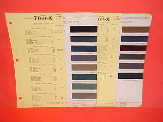 1937 1938 DODGE CAR SIX CONVERTIBLE COUPE SEDAN PAINT CHIPS COLOR