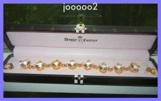 New Juicy Couture Dog Collar Crystal Diamonte Necklace style