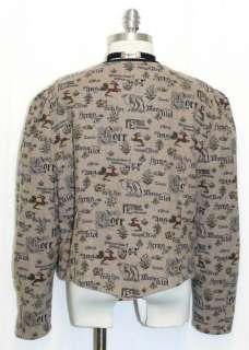 German Austria Hunting Deer Dress Suit Coat JACKET 46 16 L
