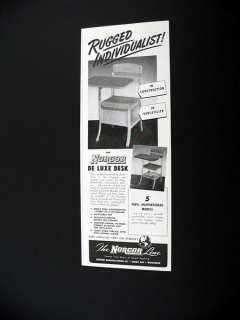 Norcor DeLuxe School Student Desk Chair 1951 print Ad