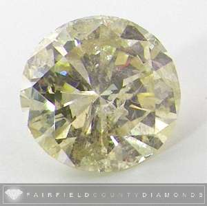 ROUND Brilliant Fancy Yellow color I2 clarity Loose Diamond 30 Carat