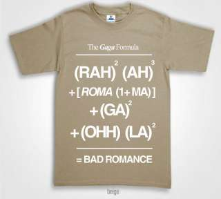 LADY GAGA T Shirts bad romance lyrics formula 24Colours