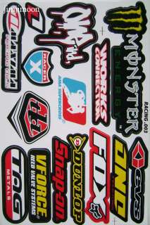 8sheet no fear Dunlop rocky mountain bike sticker decal