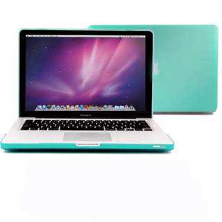 Robin Egg Blue Frosted See Thru Macbook Pro 13 Hard Case+Clear