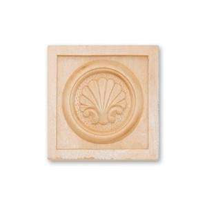 3 1/4W X 3 1/4H X 3/4THICK, Hand Carved Hard Wood