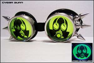 Customizable Gas Mask Goggles Cyber Goth Industrial UV