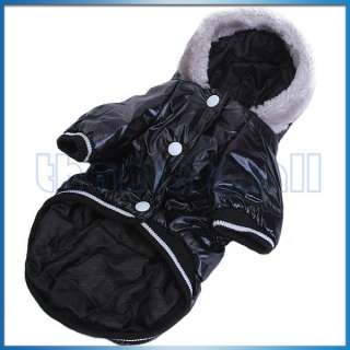 Pet Dog Hoodie Hooded Puffy Coat Jacket Apparel Clothing Fluffy Hood