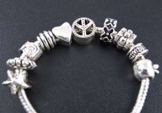 Wholesale 100pcs Mix Tibetan Silver Spacer Beads Fit Charm Bracelet