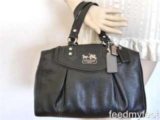 Coach 14316 Madison Audrey Sabrina Black Leather Hobo Shoulder Satchel