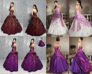 New Stock Purple Formal Evening Dress Prom Ball Gown Size 6 8 10
