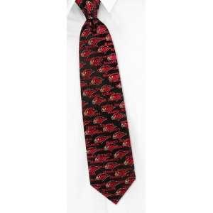 NBA Atlanta Hawks Woven Type black silk Tie Sports