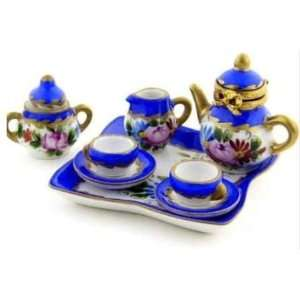 French Miniature Tea Set with Limoges Box