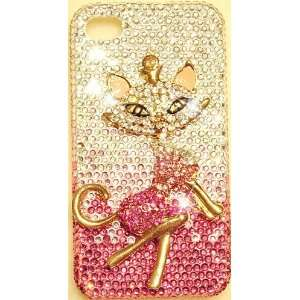 Sexy Pink Kitty Cat iPhone 4S & iPhone 4 Bling Case Ultra