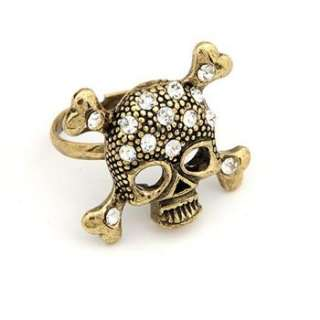 Fashion Vintage Cool Skull Pirate Design Ring For Lady 4 Young w21