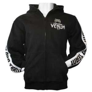 VENUM PRO TEAM MMA JIU JITSU HOODIE BLACK MEDIUM