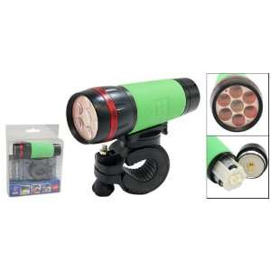 Como Portable Bicycle LED Flash Light Torch Lamp with Holder