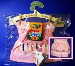 Kids Chidren Apron Crayon Pink Girl Princess Play NEW