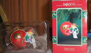 ENESCO TREASURY OF CHRISTMAS ORNAMENTS SANTAS SACKS