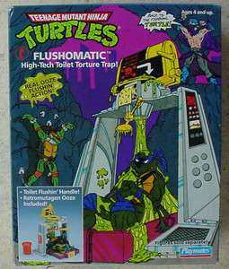 TEENAGE MUTANT NINJA TURTLES tmnt FLUSHOMATIC MIB MEGA RARE
