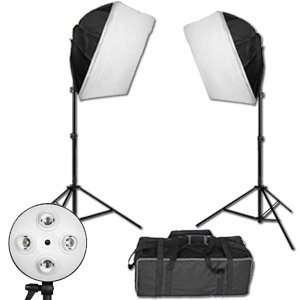2400 Watt Cool Flo   4 Bank Dual Softbox Studio Lighting