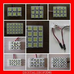 WHITE 5050 1210 1206 LED 12V CAR PANEL LIGHT XENON BULB 6 9 12 15 18