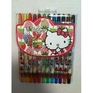 Sanrio Hello Kitty 12pcs. Coloring Pencil Set Everything