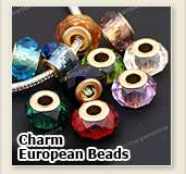 European Bead Silvery Large Hole Charm Fit DIY Jewelry