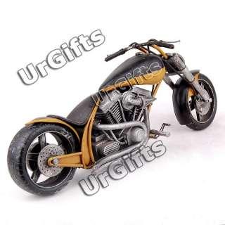 Vintage Hand Made Metal Art Bar Decor Model 1/6 Motorcycle N633