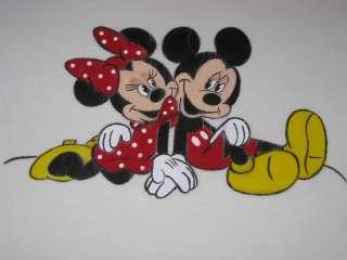 Mickey & Minnie Mouse Custom Painted DISNEY Resell Shirt Sz Medium Med