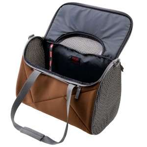Dog Cat Pet Carrier Brown Airline Approved Medium