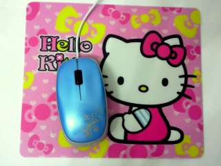 unit Hello Kitty pink mouse pad, as picture shown(mouse pad only