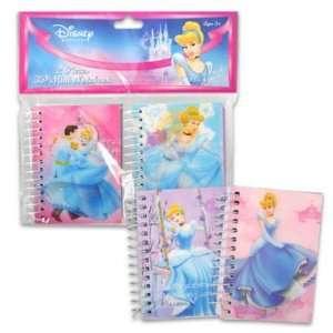 Disney Princess Cinderella 2 Pieces 3D Mini Notebook