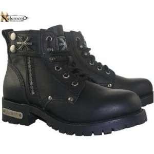 Advance Mens Black Lace Up Motorcycle Boots Sz 8