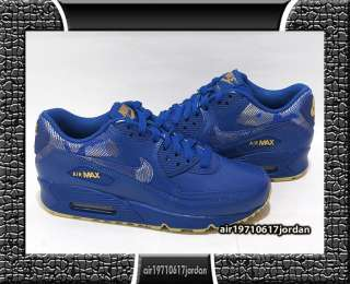Nike Wmns Air Max 90 Stormblue Gold Blue US 6~12 Leather 95 97 1
