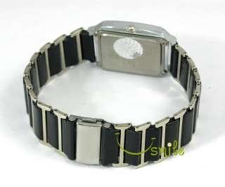 H29 New Ceramic Band Mens Black Dial Japan Quartz Watch