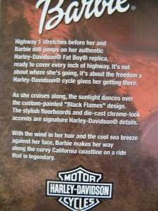 Harley Davidson Barbie Motorcycle Fatboy Flames HTF NEW
