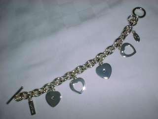mark Heart Love Charm Silver Bracelet Juicy Jewelry NEW