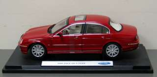 1999 Jaguar S Type Diecast Model Car   Welly   Red 118