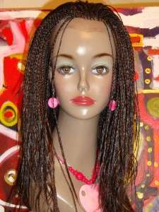braided lace front wig,new without tag,hand made. color# 4.style