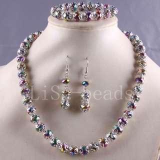 Crystal Beads Necklace Bracelet Earrings Series LE604