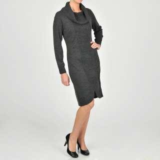 Lennie for Nina Leonard Womens Cowlneck Sweater Dress