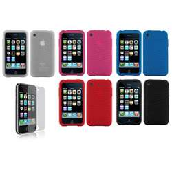 Apple iPhone 3G Silicone Case with Screen Protector
